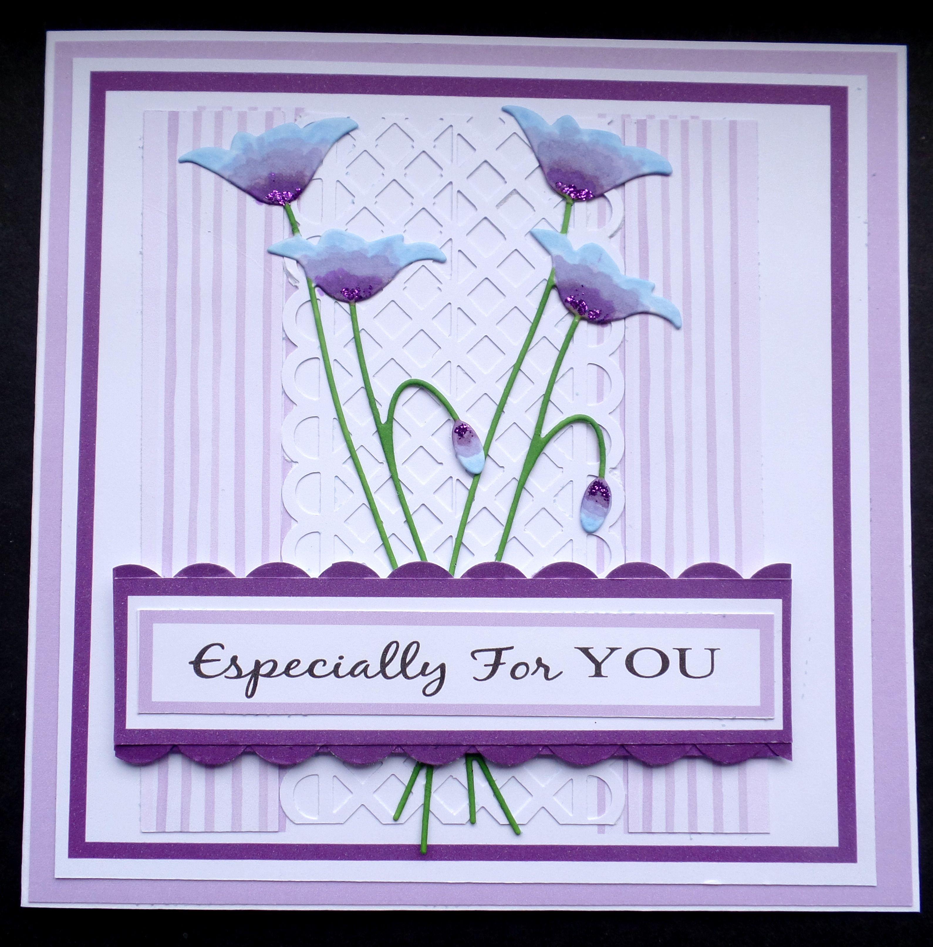 s017 hand made birthday card using memory box prim poppy die and