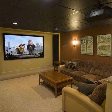 Drop Ceiling Design, Pictures, Remodel, Decor and Ideas Basement - einrichtung im industriellen wohnstil ideen loftartiges ambiente