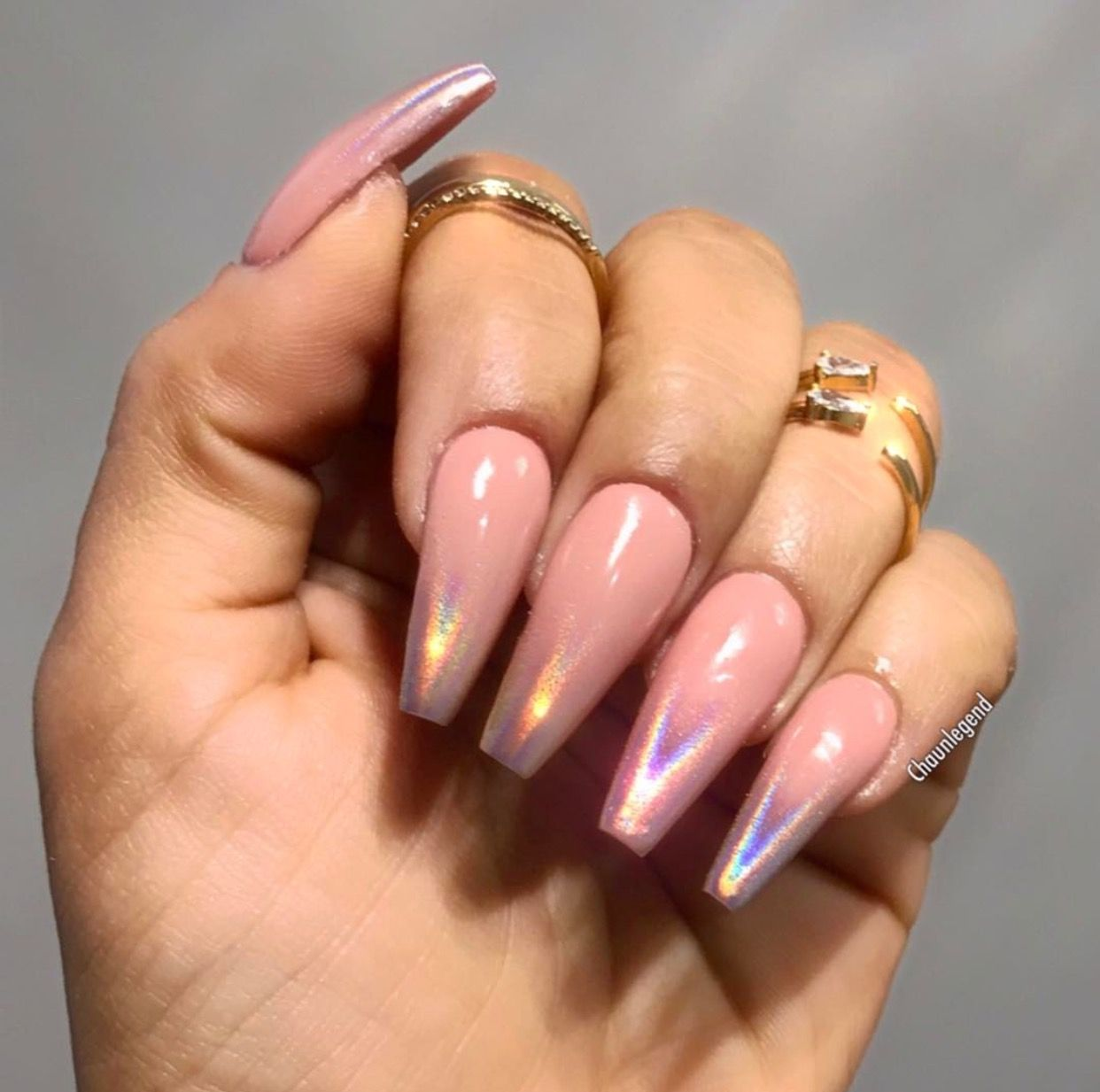 Holographic Ombre Nails Shiny Nails Designs Holographic Nails Birthday Nails