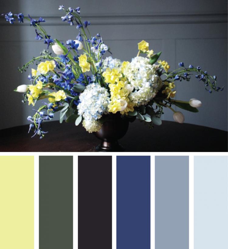 Wandfarben Farbpalette Gelb: Welche Farbe Passt Zu Khaki Gelb Blau Grau