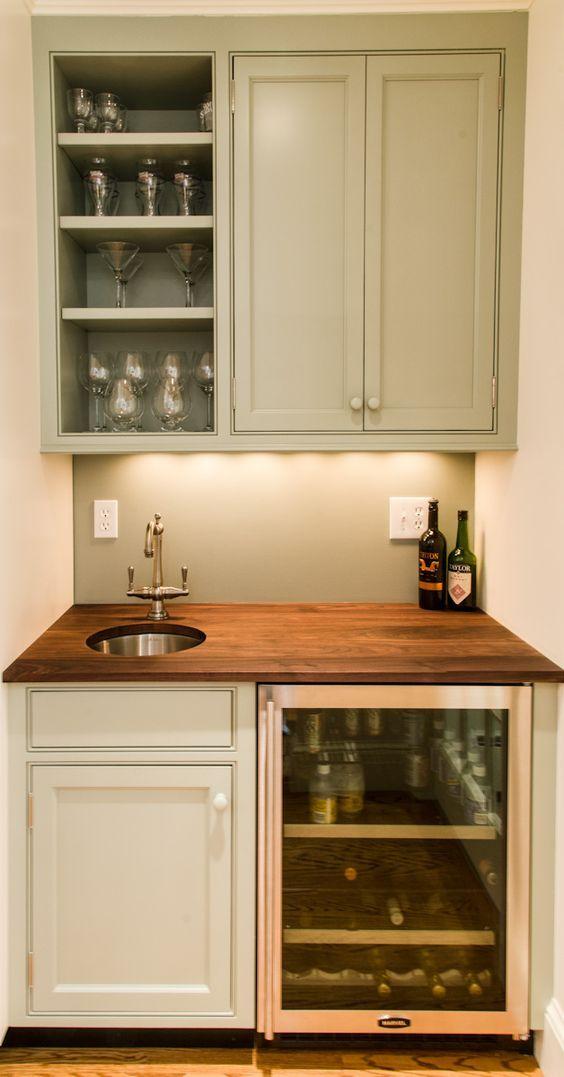 Image Result For Bat Bar Fridge Built In Ikea Cabinets