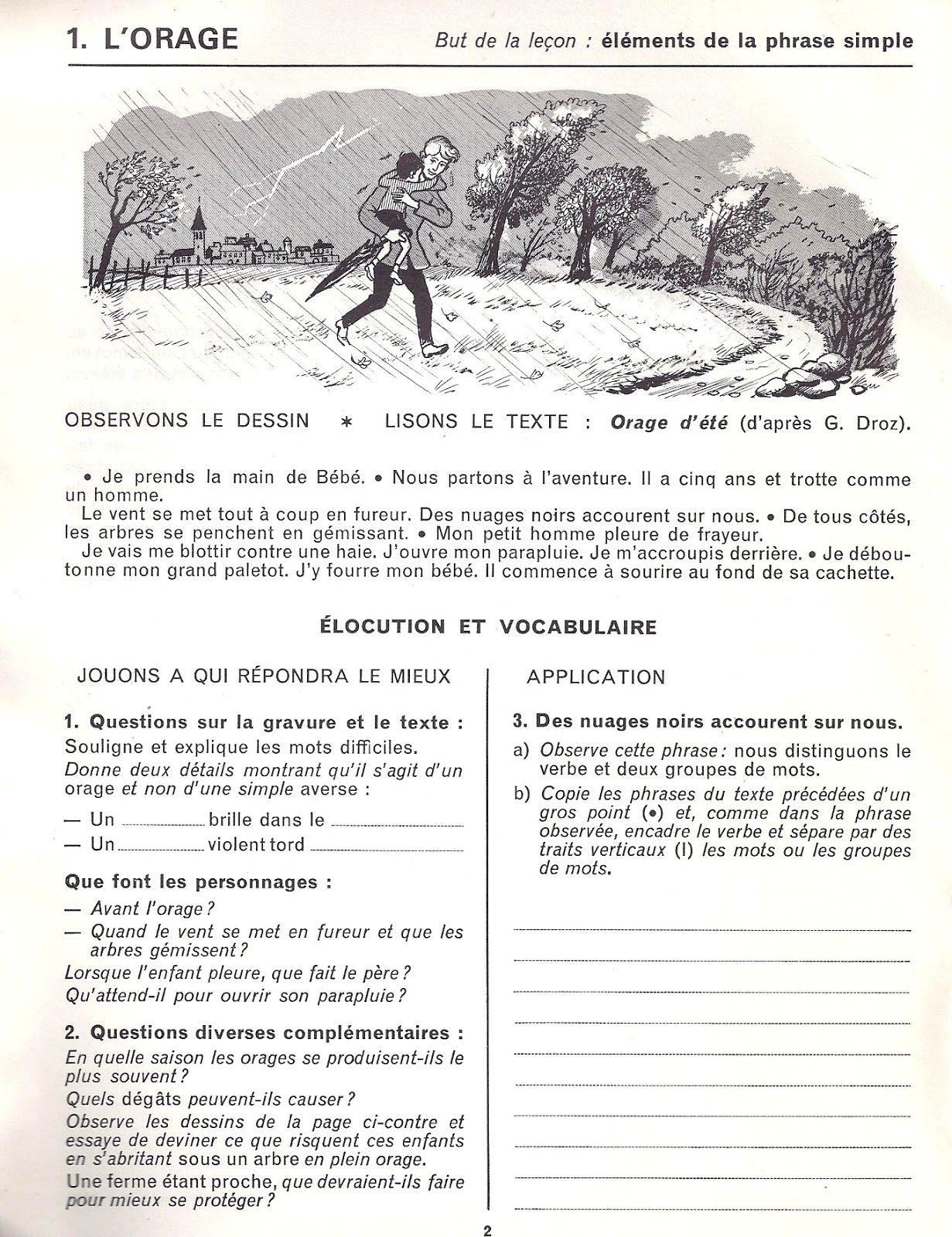 Table Des Matieres Themes Et Textes Etude De Phrases Themes De L 39 Expression Ecrite Pag Vocabulaire Expression Ecrite Redaction Ce2