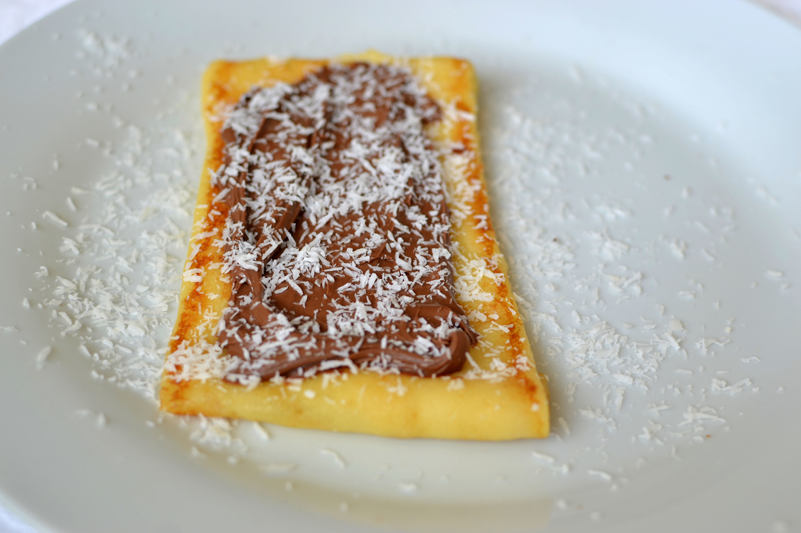 Nutella and Coconut Crêpes