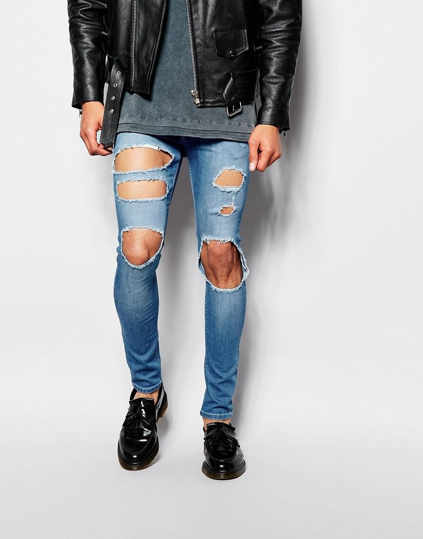 b254dde9 ASOS+Extreme+Super+Skinny+Jeans+With+Extreme+Open+Rips | Street ...