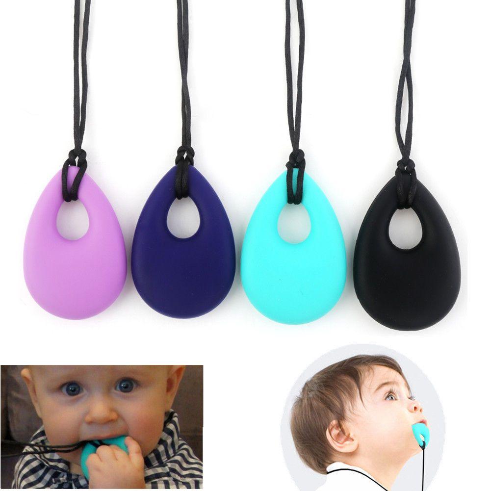 BPA Free Silicone Teething Necklace Teardrop