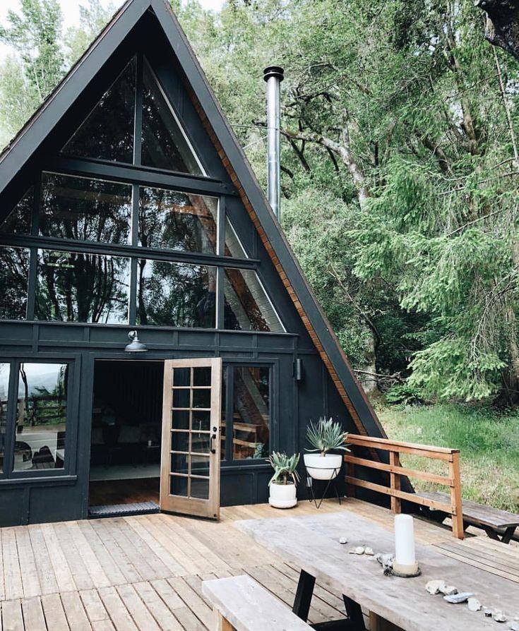 Black A Frame Cabin.... I am in love! | T I N Y | H O U S E ...