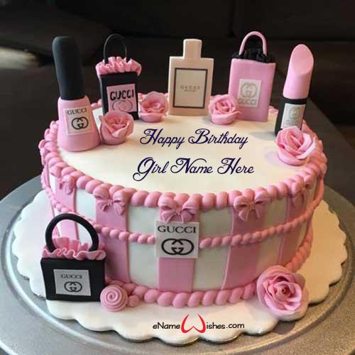 Phenomenal Gucci Name Birthday Wish Cake Nel 2020 Torte Trucco Torte Di Personalised Birthday Cards Fashionlily Jamesorg