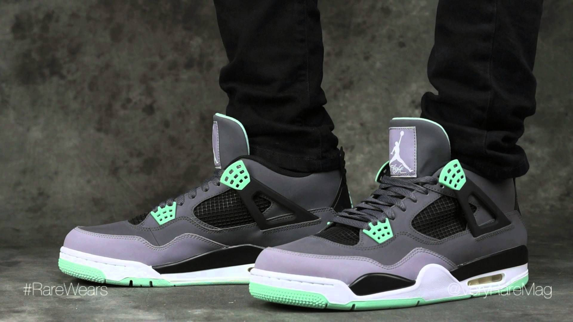 Air Jordan 4 Retro 'Green Glow' on-feet | #RareWears ...