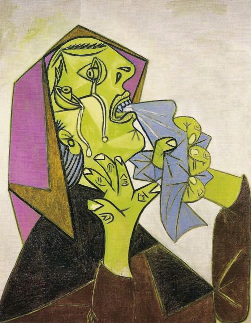 P Picasso Weeping Woman With Handkerchief Oil On Canvas October 17 1937 Picasso Guernica Pablo Picasso Art Picasso Art