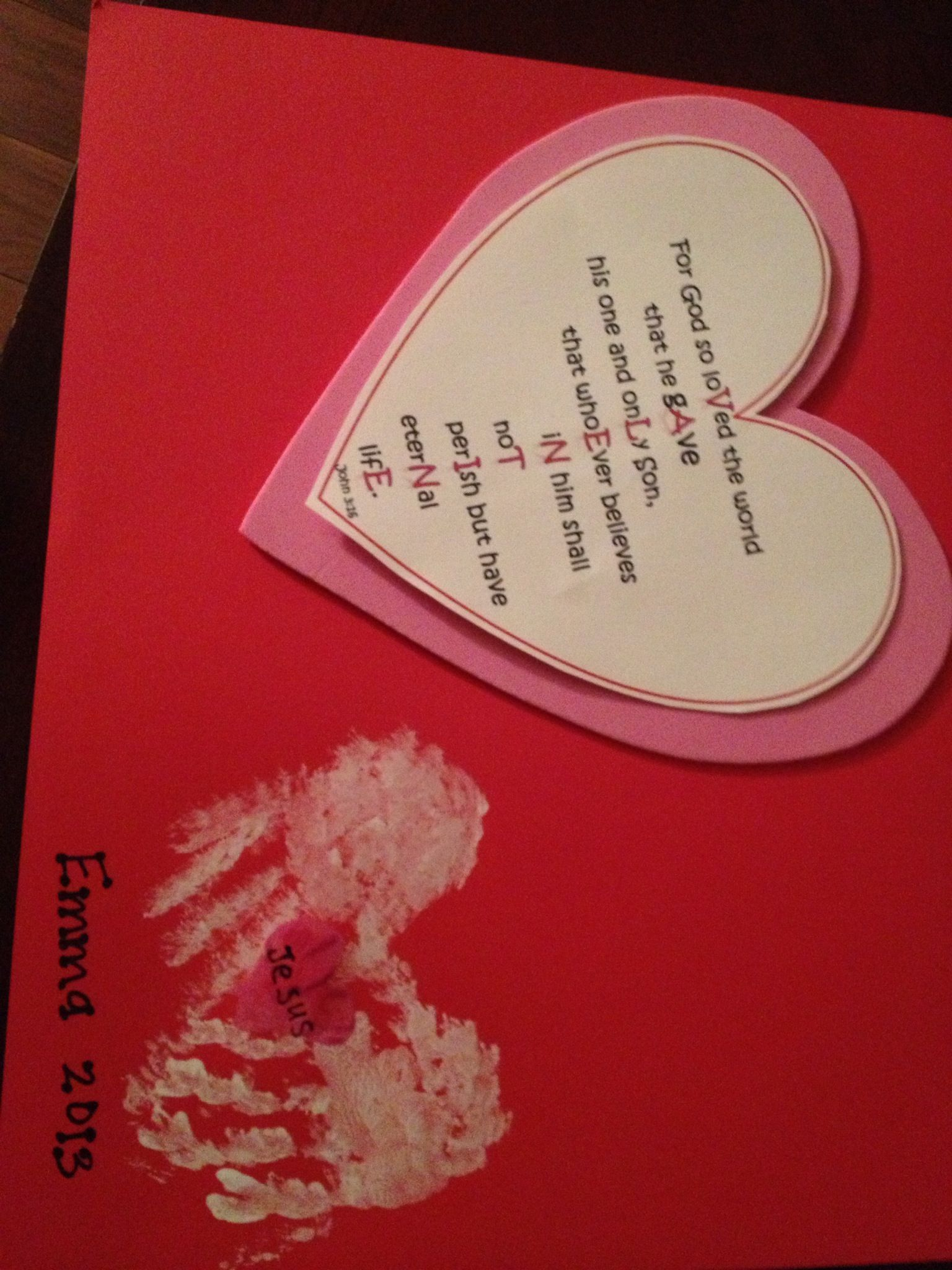 Valentine Card John 3 16