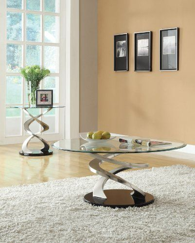 Acme 80032 Nia Glass Top End Table, Chrome Finish by ACME. $282.49. Perfect for your living room and great addition to any dining room. Covered in chrome finish. Measures 26-inch diameter by 23-inch height. Nia collection end table with 80033 glass top. Made of p2, metal and medium density fiberboard. This Nia collection end table with 80033 glass top is perfect for your living room and great addition to any dining room. Made of P2, metal and medium density fiberb...