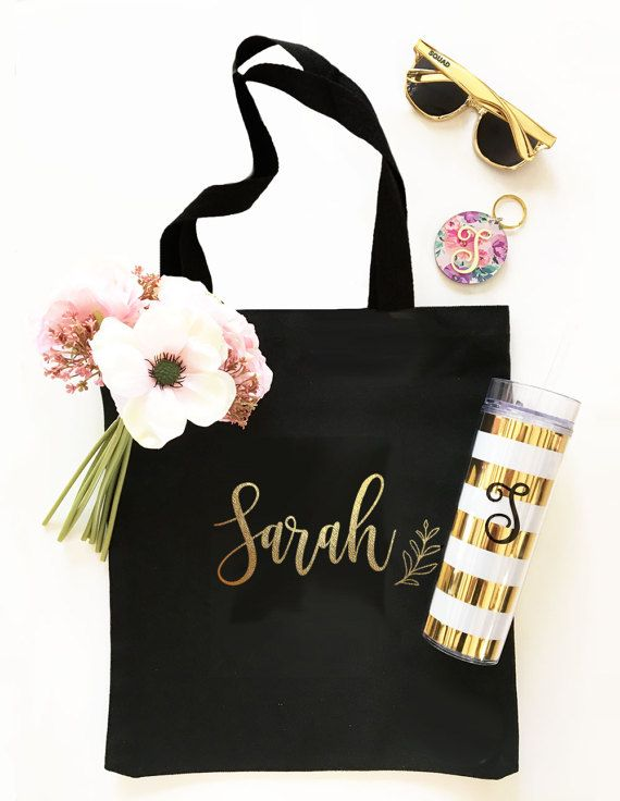 Bridesmaid Thank You Gift Custom Tote Bag for Bridesmaid Gift Bridesmaid Tote Bag Sets Bridesmaid Gift Bag Large Tote Bag Personalized