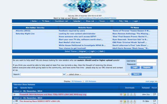 EZTV proxy alternative listing new TV shows | Other Social