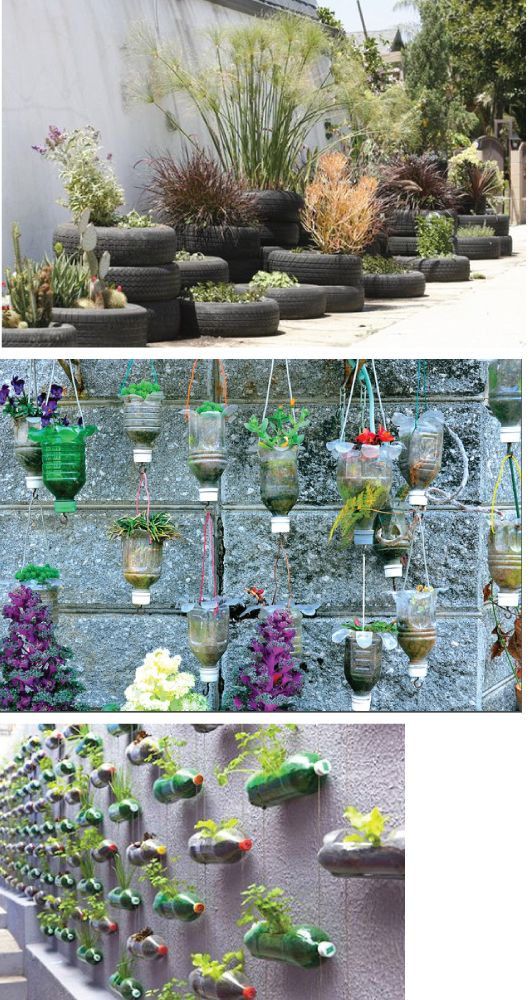 Re forest your ideas recycle garden containers green for Garden ideas using recycled materials