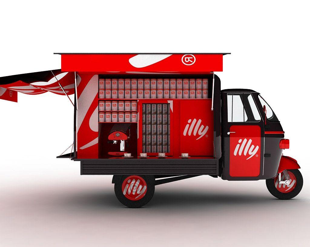 food trucks digital clip art featuring coffee food truck, ice