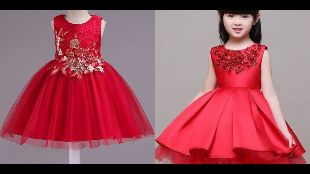 Latest Fashion Trends Of Red Baby Frocks 2019 2020 Fashion Frocks Latest Fashion Trends