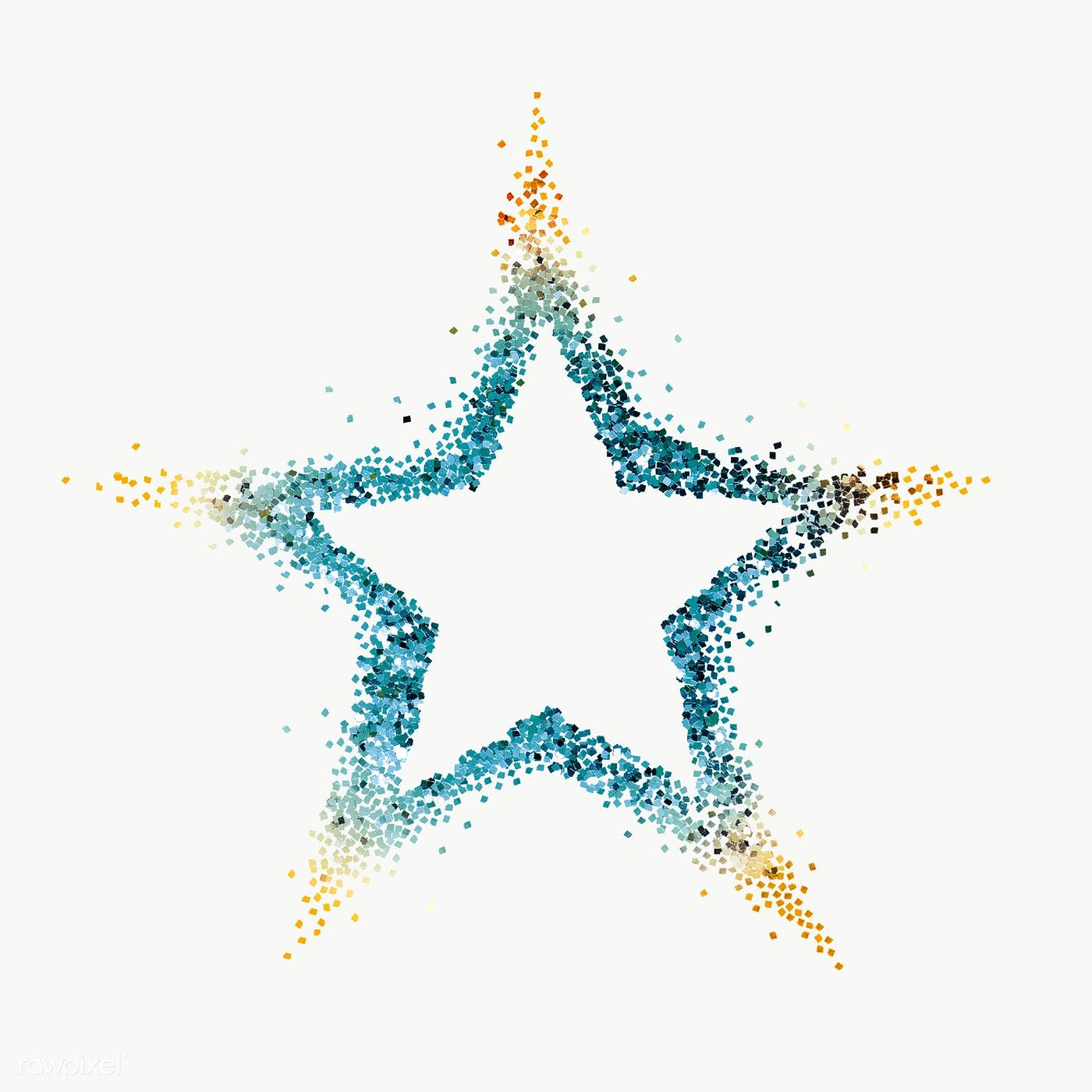 Blue Star With Gold Tips Transparent Png Free Image By Rawpixel Com Ployploy Vector Background Pattern Gold Tips Star Illustration