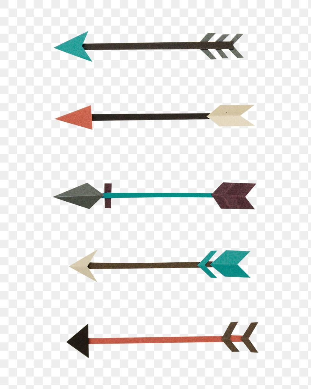 Arrow Symbol Paper Craft Set Design Element Free Image By Rawpixel Com Gade Technology Design Graphic Design Element Craft Set