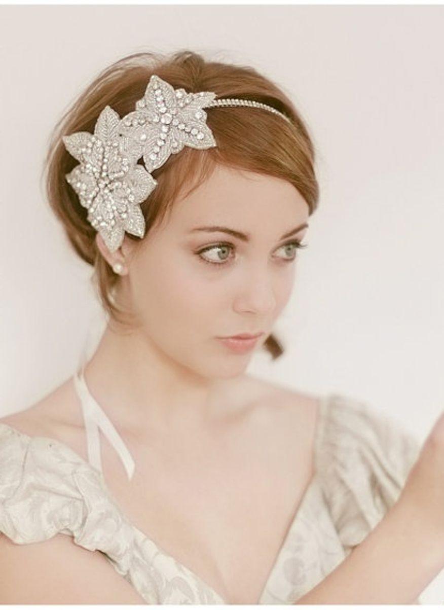 Short Hair Bridal Veils | Fashion Belief |Very Short Hair For Wedding Headpieces
