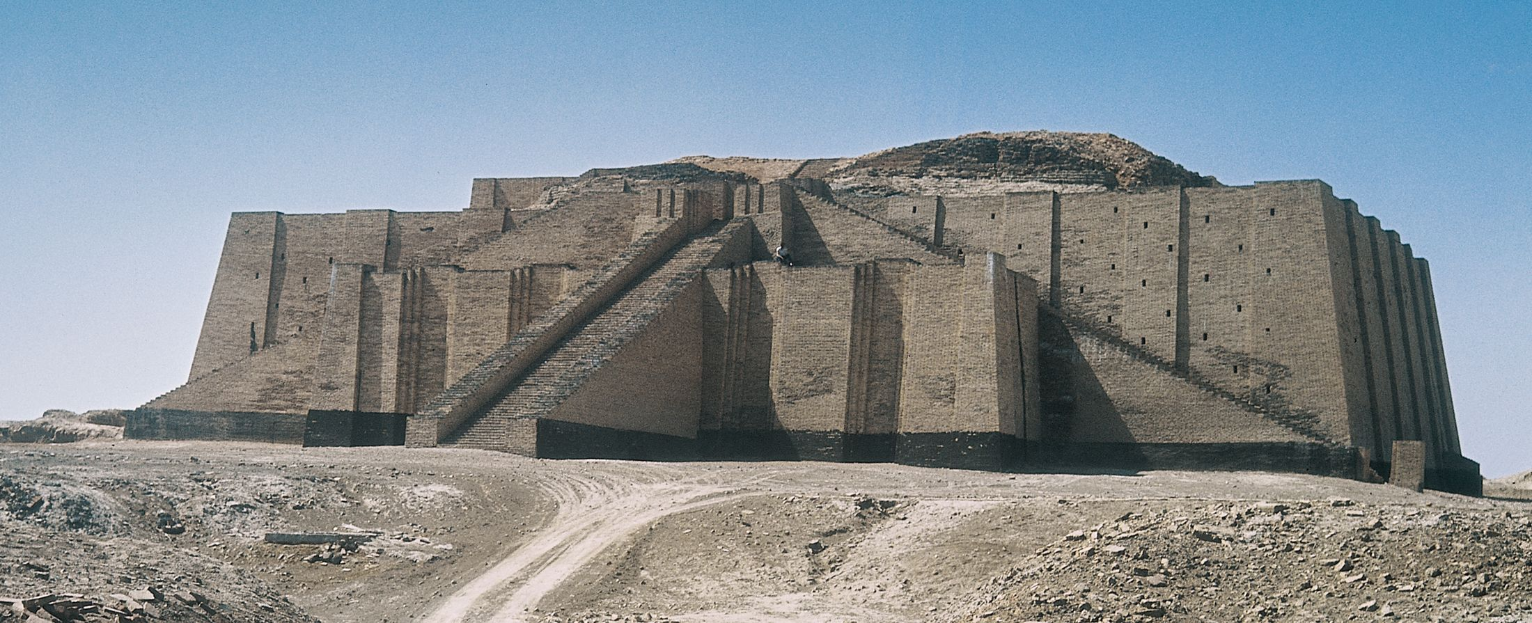 Ancient Mesopotamian Art And Architecture northeaster facade fith restored stairs, ziggurat at ur | history