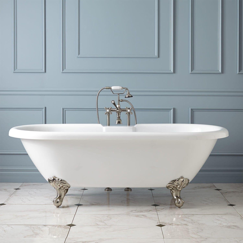 Audrey Acrylic Clawfoot Tub Imperial Feet Bathroom Remodel