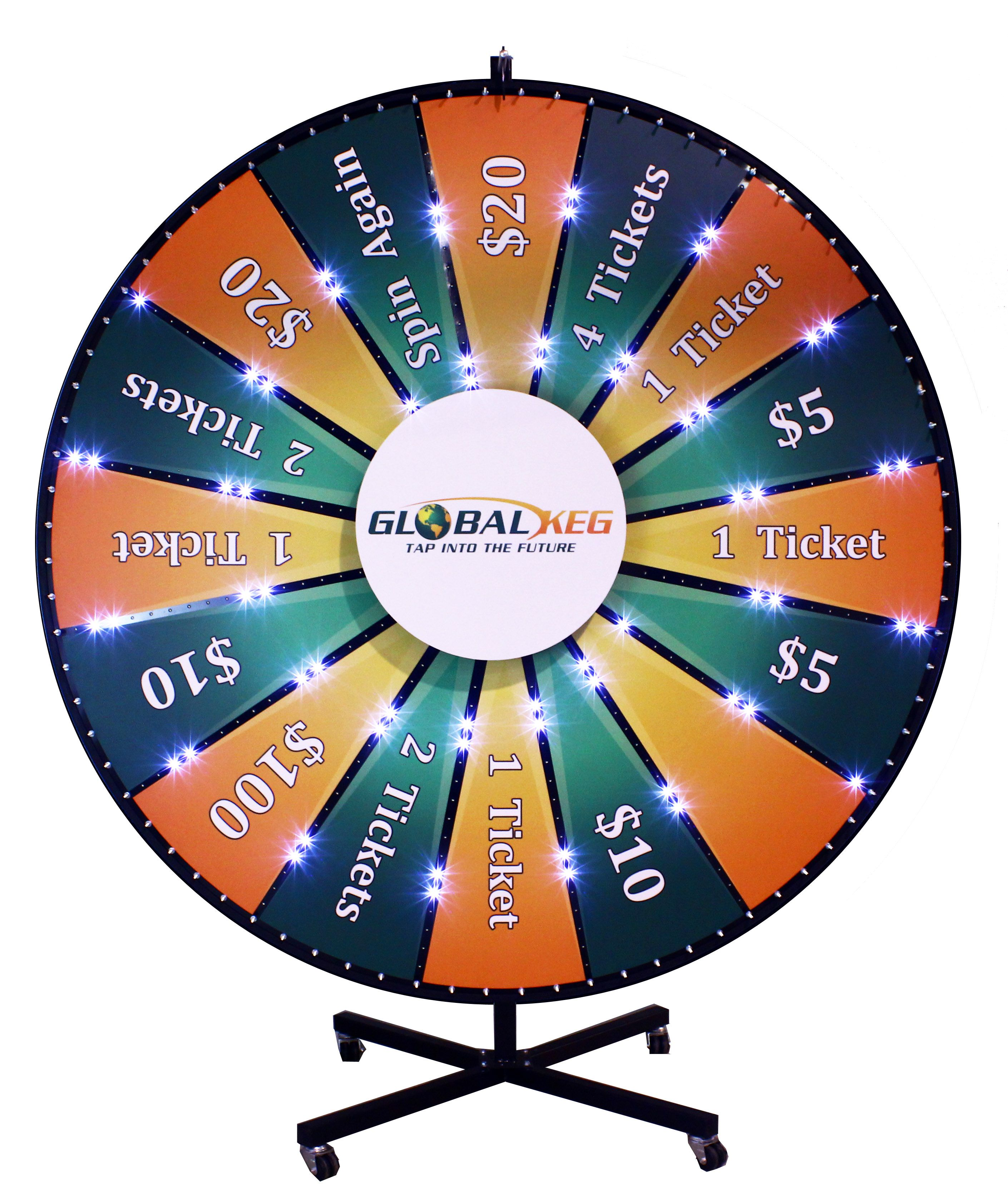 84 Custom Lighted Prize Wheel Add Casters To Your Prize Wheel Stand And Make It Easy To Move Around Prizewheel Prize Wheel Custom Lighting Custom