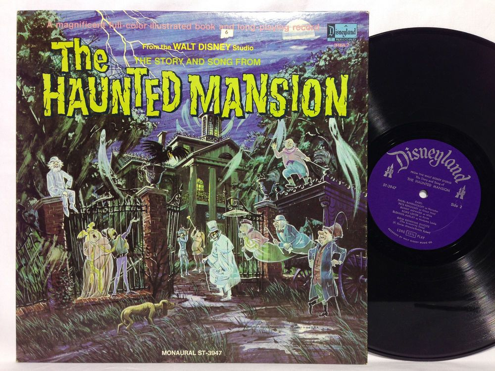 The HAUNTED MANSION LP w/ book Halloween 3947 Paul Frees