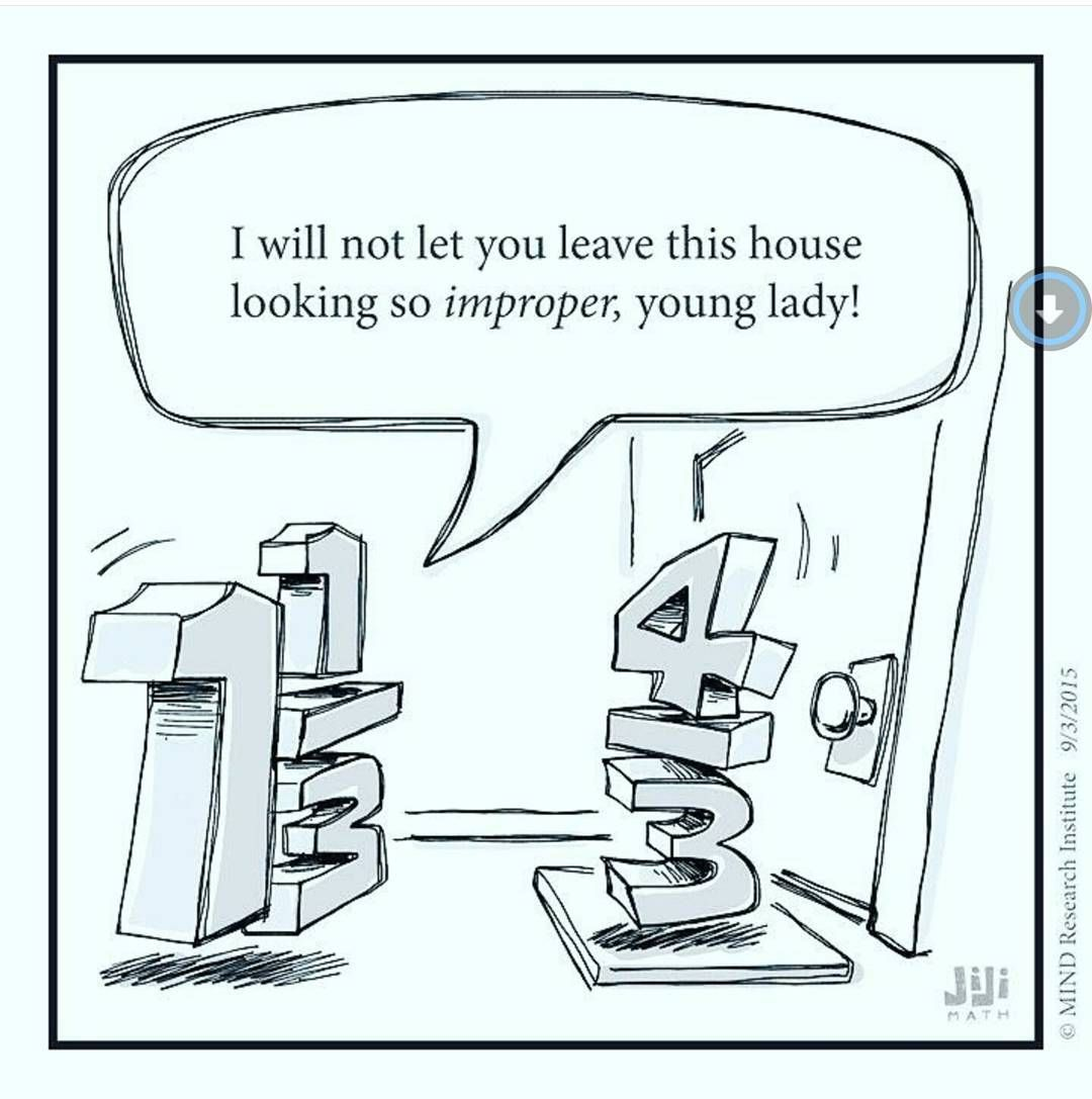 This Funny Math Cartoon From Off The Number Line Questions Why We Consider  Improper Fractions A Negative Thing. We Are Only Supposed To Use Improper  ...