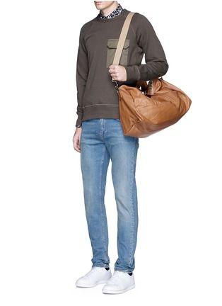 MEILLEUR AMI PARIS  BEL AMI  LEATHER DUFFLE BAG   fashion over 50 ... 9329b251b9