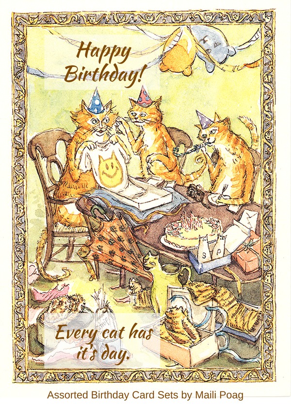 Funny Birthday Card Cats Giving Cat Lover Gifts Birthdaycard Birthdaygifts Etsy