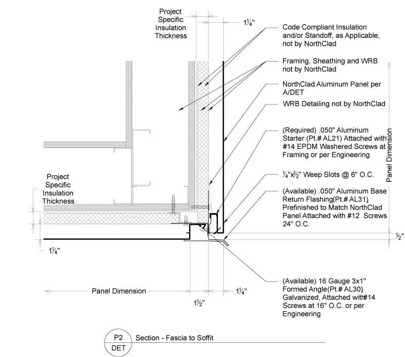 Image Result For Exterior Metal Soffit Detail Insulation Thickness Exterior Detail