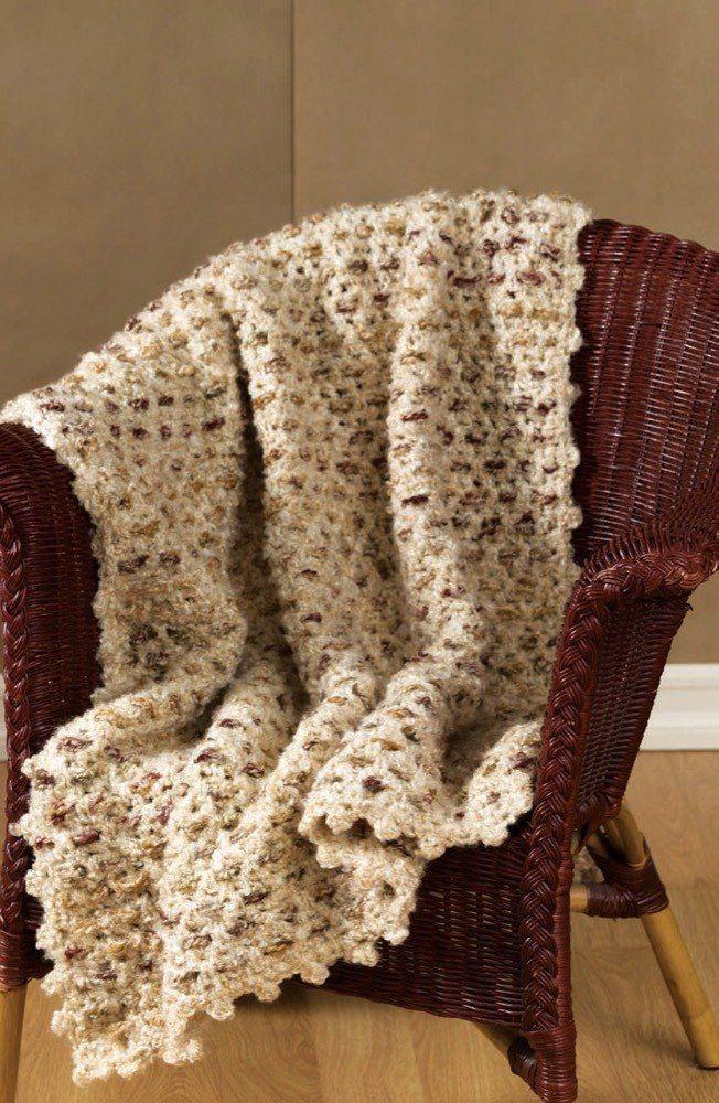 Crochet Delightful Afghan in Red Heart Light & Lofty - LW1600 Free