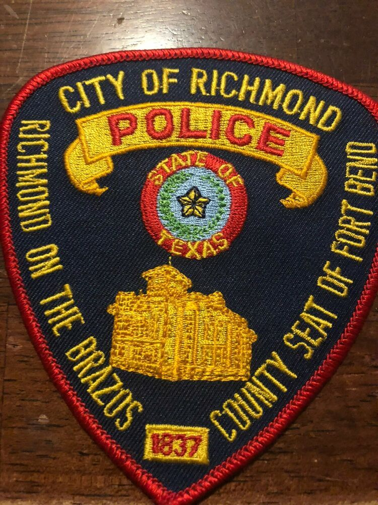 Texas Police Richmond Police TX Police Patch in 2020