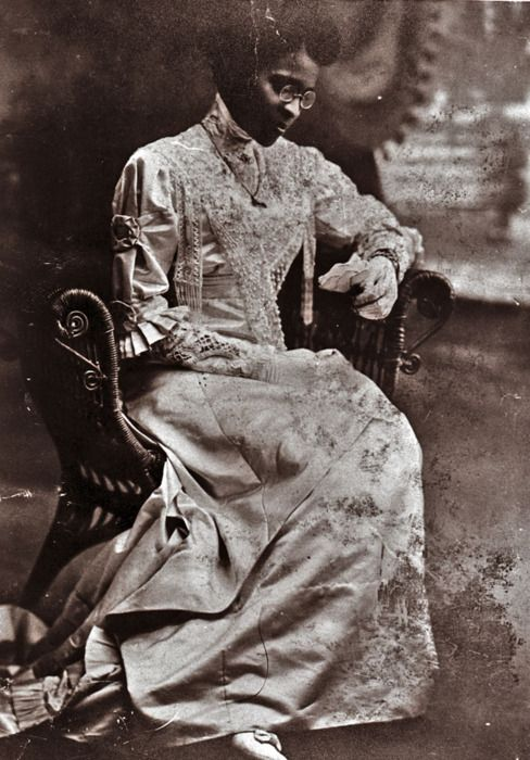 Educator Charlotte Hawkins Brown on her wedding day in 1912.  Founder of the historic Palmer Memorial Institute in North Carolina, Ms. Brown was also one of the invaluable suffragists who worked for black women to have the same equal rights black men and white women were fighting for in the early 20th century.