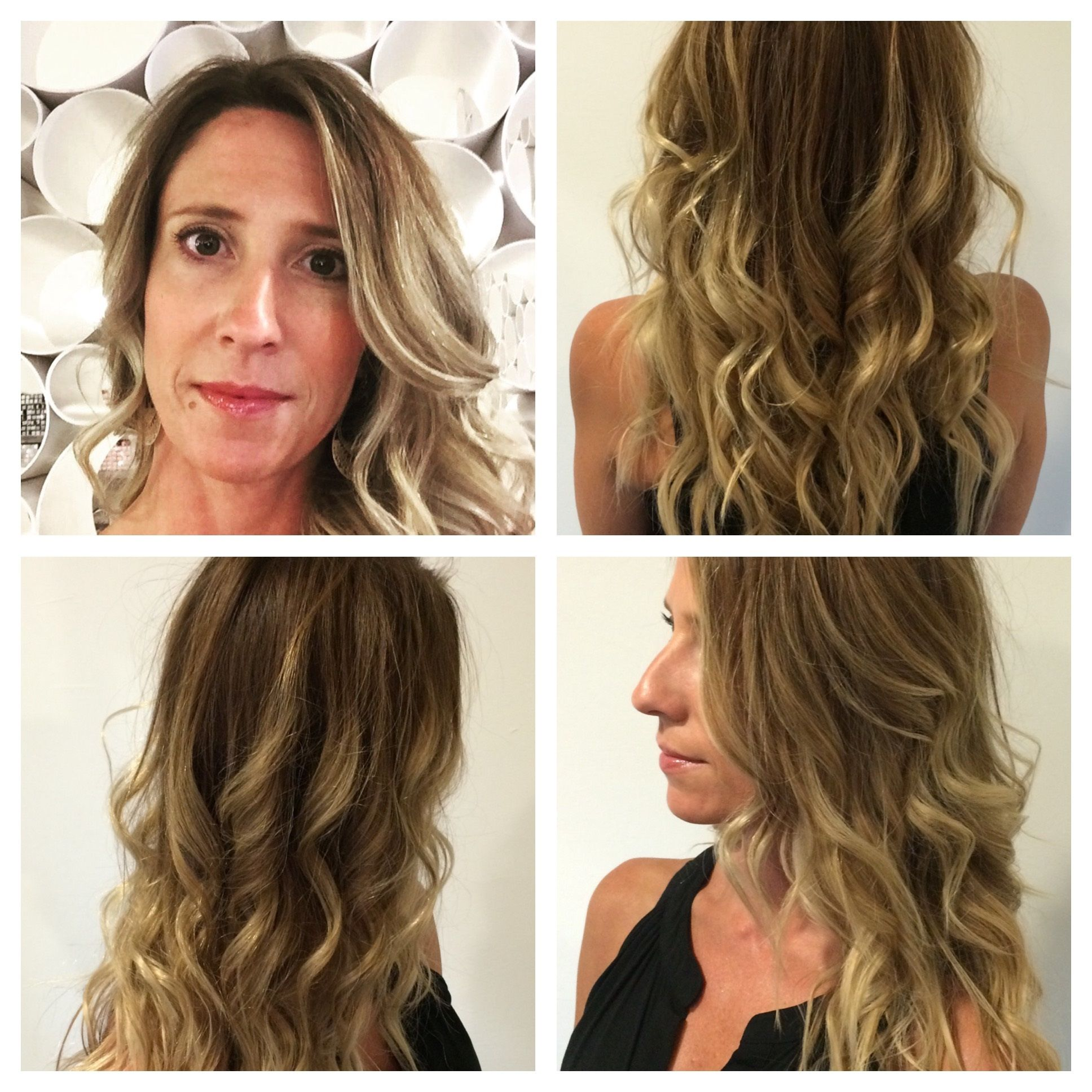Ash blonde sombre using Framesi color and Bumble and bumble
