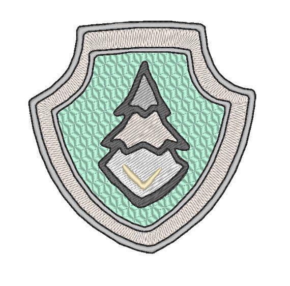 pat 39 patrouille badge everest motif de broderie paw. Black Bedroom Furniture Sets. Home Design Ideas