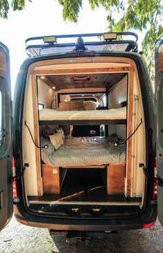 Would you ever think that a family of 5 could squeeze into a Sprinter 144? With electronic bunk beds, Freedom Vans made it happen! Check out our project gallery on our website for more photos of this build. #van #vanlife #freedomvans #bunkbeds #interiors #familyvan #ideas #sprinter #sprintervan #vanbuild #vanconversion #convertedvan #sprinterconversion #convertedsprinter #sprinter144 #tinyhome #tinyliving