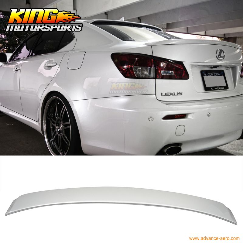 For 2006 2013 07 08 09 10 11 12 13 Lexus Is250 Is350 4dr Roof Spoiler Oem Painted Match 1g1 Tungsten Paint Matching Lexus Is250 Lexus