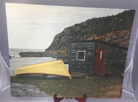 SOPER Warren Young (1919 - 2012) Oil Painting on Board Newfoundland ...