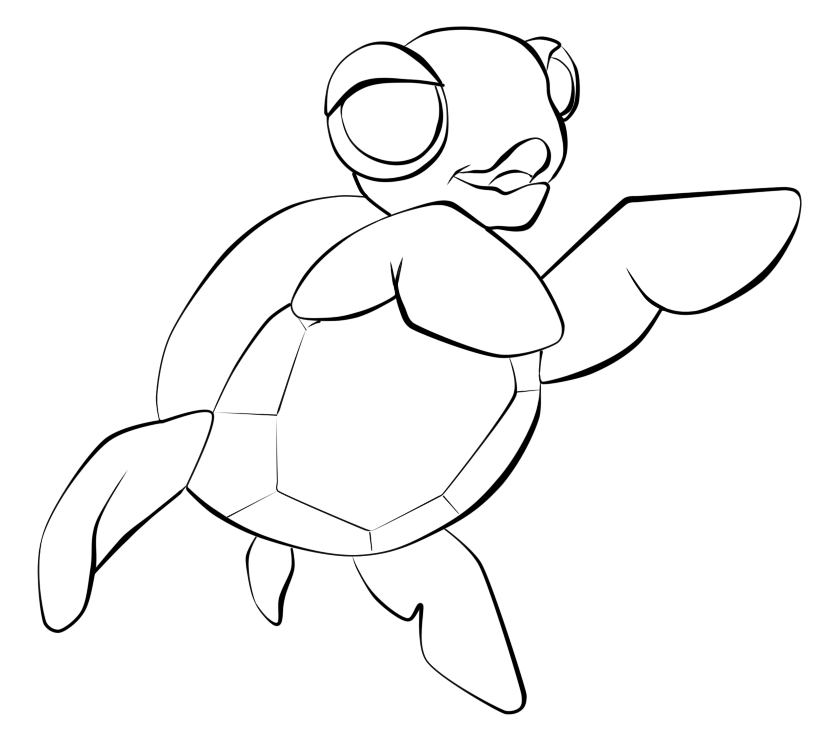 Free Lines Baby Sea Turtle By Tulpi On Deviantart Art Inspiration
