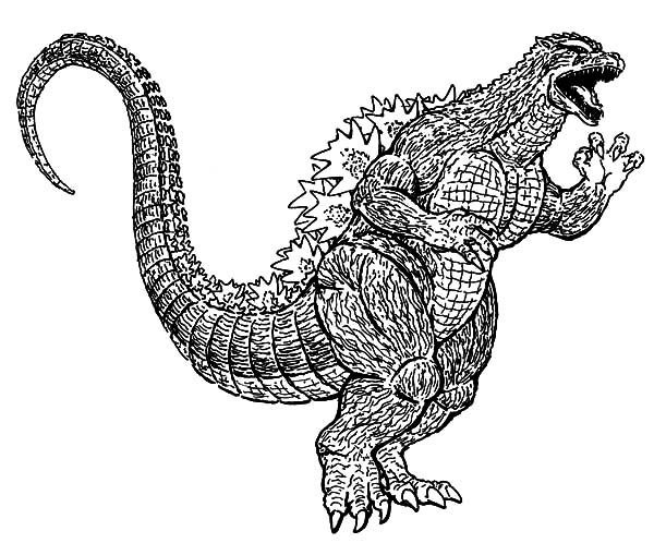 Godzilla Running Wild Coloring Pages Lineart Rhpinterest: Godzilla Gigan Coloring Pages At Baymontmadison.com