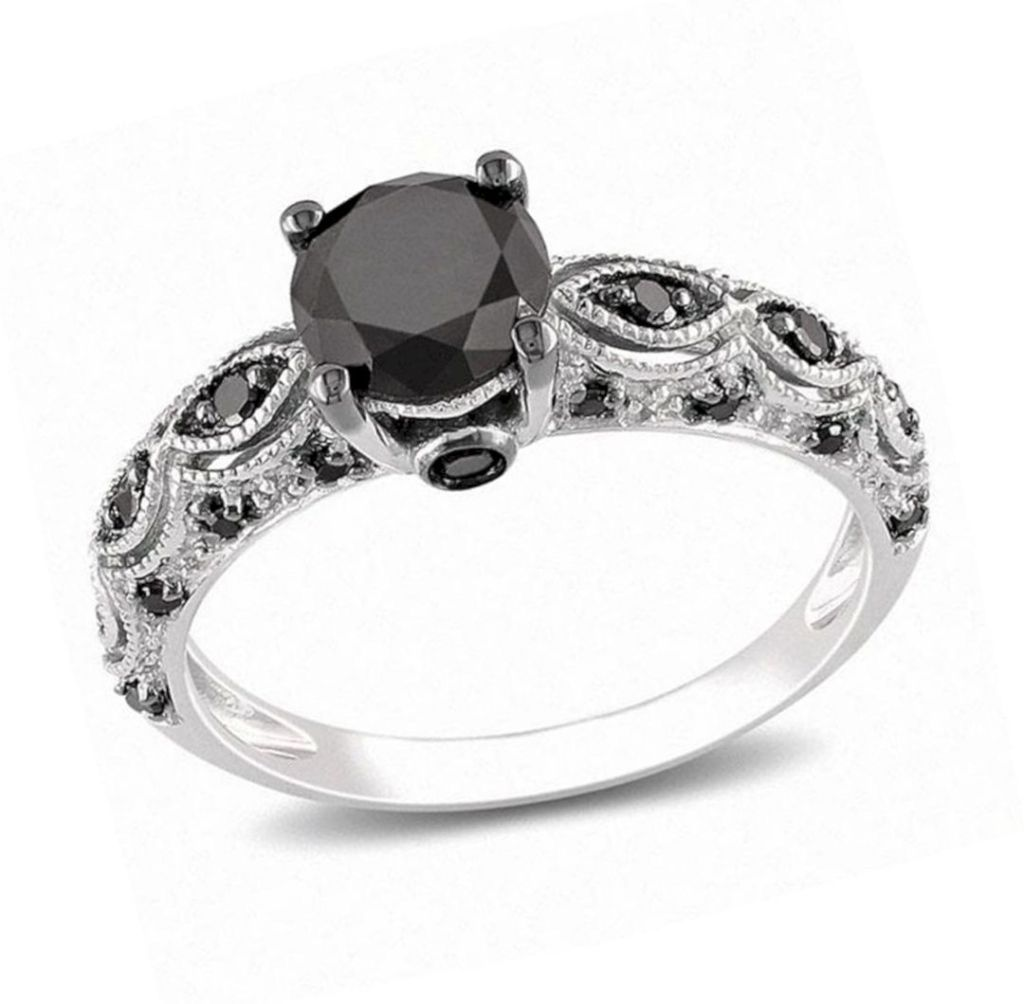 Black Diamond Rings For Her 6 On Sale Near Me Ideas Black Wedding Band Black Diamond Wedding Bands Wedding Band Designs