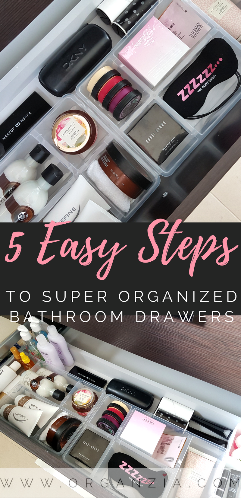 To have super organized bathroom drawers can
