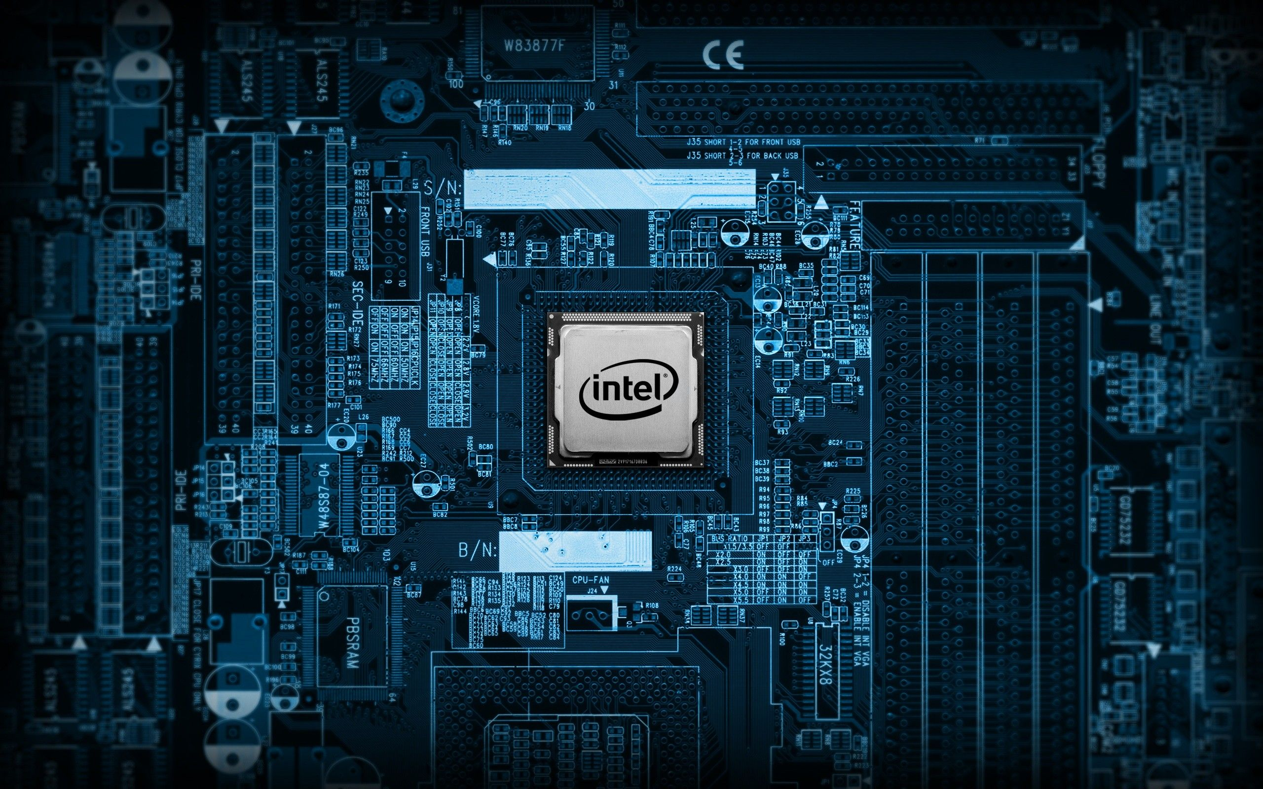 Image for Free Intel Inside Motherboard Technology HD Wallpaper | Tech Inspirations in 2019 ...