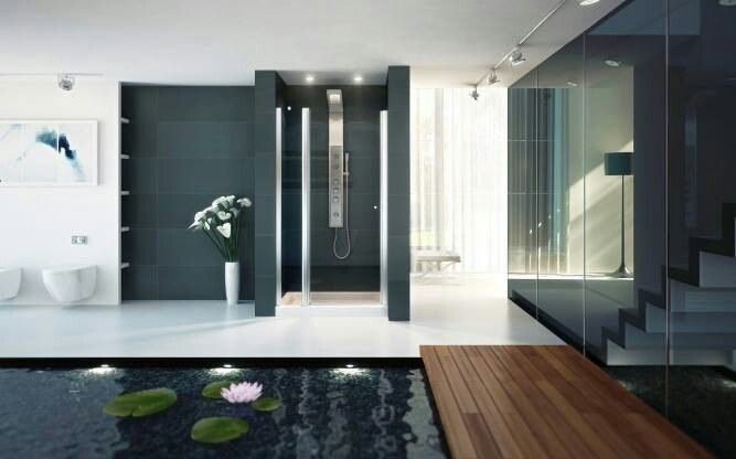 Amazing Kuan Studiou0027s Sense Of Design : KUAN Studio Contemplates Shower And  Spa Indoor Pond