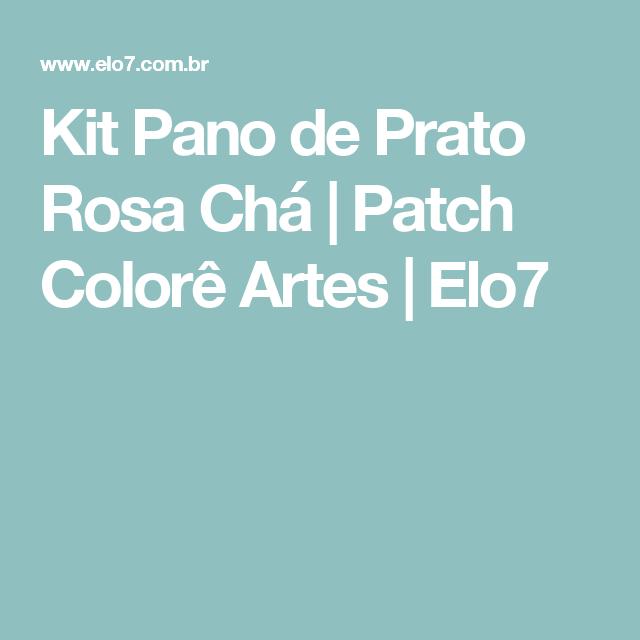 Kit Pano de Prato Rosa Chá | Patch Colorê Artes | Elo7
