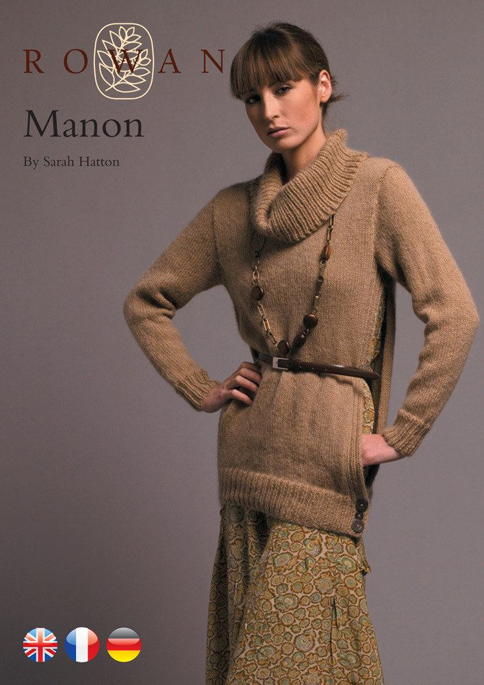 Manon Open Sided Sweater with Cowl Neck in Rowan Kid Classic ...