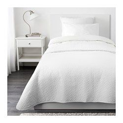 IKEA - ALINA, Bedspread and cushion cover, Twin/Full (Double), , Extra soft since the bedspread and cushion cover are quilted.The cushion…