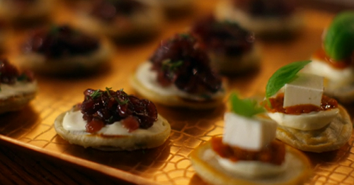 Darcey Bussell Blinis With Creme Fresh And Caramelized
