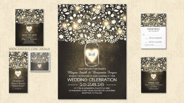 free wedding invitations templates fireflies - Google Search